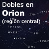 Dobles en Orion (región central)