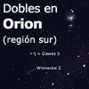 Dobles en Orion (región sur)